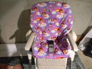 Chicco Polly High Chair Cover Purple Dora and Boots