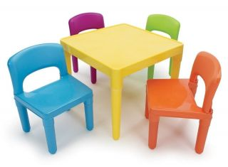 Kids Table Chair Set Colorful Daycare Children Preschool Toddler School Play