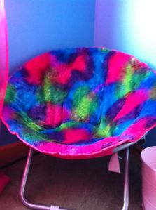 ... Justice for Girls Hot Pink Blue Green Saucer Chair ... & Mainstays Microsuede Saucer Chair Green Toddler