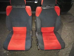 Toyota MR2 MK1 4AGE AW11 Red Black Velour Seats Cloth Chairs camper Van VW JDM
