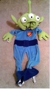 Toy Story 3 Alien Deluxe  Halloween Costume Toddler Child Size 2T