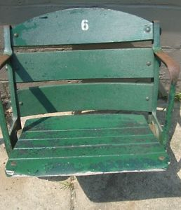 Antique Vintage Wooden Wrigley Field Seat Chair Chicago Cubs Stadium Seat