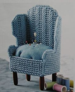 Grandma's Favorite Chair Pincushion Plastic Canvas Pattern
