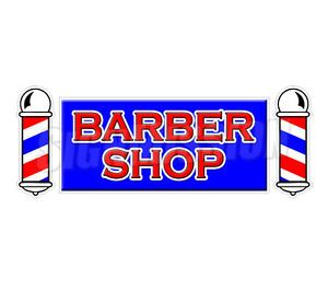 "30"" Barber Shop Window Decal Salon Parlor Sign Signs Stylist Chair Sticker"
