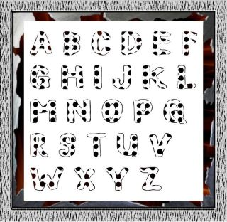 26pc Alphabet Letter Airbrush Stencils Template Paint Tattoo Custom 002060Y L