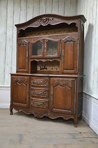 2201031 Large Antique Oak French Country Vaisselier Cabinet Buffet Sideboard