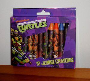 Nickelodeon Teenage Mutant Ninja Turtles 12 Pack of Crayons New Birthday Favors