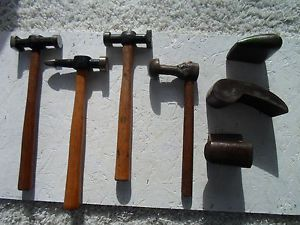 Opportunity Lot 7 Assorted Auto Body Tools 4 Hammers 3 Dollies Body Mechanic