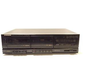Vintage Pioneer Ct W310 Stereo Double Dual Cassette Deck Tape Player Recorder