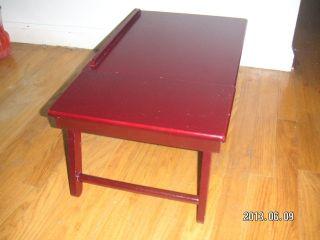 Burgundy Wood Lap Top Desk Tablet Laptop Stand TV Tray Reader Book Holder Table
