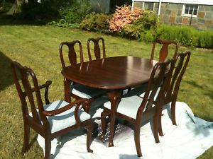 Ethan Allen Georgian Court Dining Table Chairs