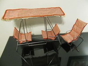 Vintage Barbie Betsy McCall Doll Watko Glider Metal Patio Furniture Swing Chair
