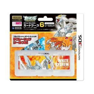 Pokemon BW Nintendo 3DS Game Card Storage Case 6 White Kyurem Sticker Hori DS
