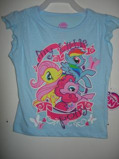 My Little Pony Rainbow Dash Pinkie Pie T Shirt Blue 2T 3T 4T Free Shipping