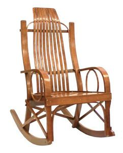 Amish Solid Cherry Rocking Chair Rocker