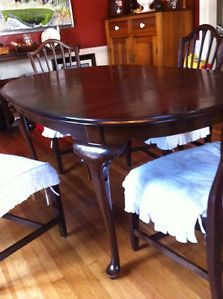 Ethan Allen Georgian Court Vintage Cherry Dining Table Chairs Available Too