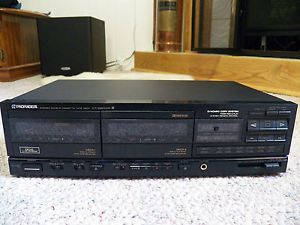 Pioneer Stereo Home Dual Cassette Deck CT 1280WR Double Tape Recorder  Synchro