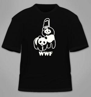 WWF Panda T Shirt Funny WWE Chair Wildlife Foundation Cool Humor Retro s 3XL