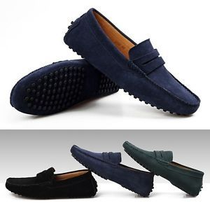 New Men's England Gommino Casual Suede Flats Leather Shoes Driving Shoes Slip On