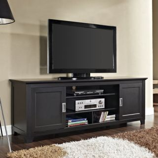 black tv stand flat screen 48 inch television entertainment center new dlp 52 67. Black Bedroom Furniture Sets. Home Design Ideas