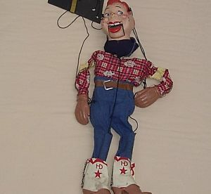 1950's Vintage Howdy Doody Puppet Marionette Good Condition No Reserve