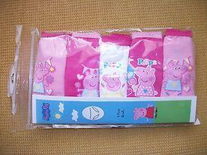 New Girls 5 Pack Peppa Pig Panties Briefs Underwear 18 MO 24 MO 2T 3T 4T 5T