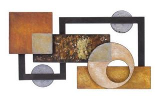 "Big Abstract Metal Wall Art Sculpture Home Decor 37""w 21""H"