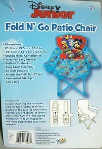 Disney Mickey Mouse Fold N' Go Patio Chair Bag Toddlers Kids Children Boy Girl