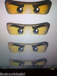"""Lego Ninjago Birthday Party Favors """"Eyes"""" Perfect for Balloons Goody Bags Etc"""