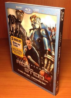 Real Steel w Slip Cover Blu Ray DVD 786936821383