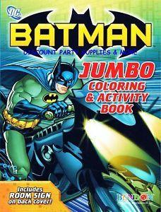 Batman Dark Knight Motorcycle Coloring Activity Book