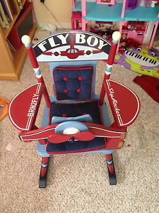 Kids Rocking Chair Levels of Discovery Classic Rocker Red Brown (Cherry)