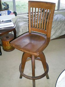 Antique Post Office Chair WH Gunlocke Chair Co Tagged and Serial Numbered
