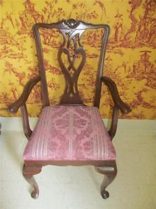 Ethan Allen Georgian Court Solid Cherry Chippendale Chair 6420 Finish 297