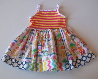 Mm Kpea Candy Crush Stripe Polka Dot Tank Dress 18 Months LBNW
