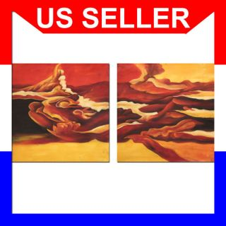 Modern Office Furniture Abstract Oil Painting 24x48 072