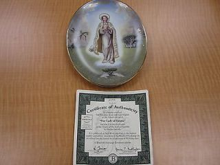 Bradford Exchange Visions of Our Lady Collection Our Lady Fatima Plate 1007A