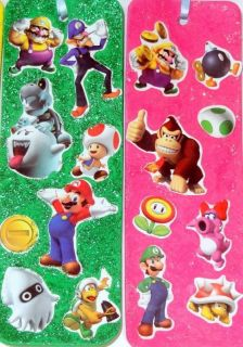 12 Super Mario Glittery Ribbon Bookmarks Party Favors Nintendo Wii Game Handmade