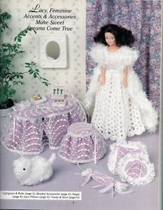 Fashion Doll Crochet Plastic Canvas Patterns Fantasy Clothes Baby Room More