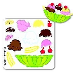 15 Ice Cream Sundae Stickers Party Favor Teacher Supply