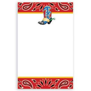 Western Theme Cowboy Party Printable Invitations 10ct Party Supplies