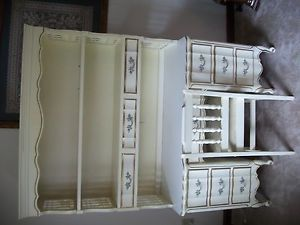 French Provincial Furniture by Dixie Desk with Hutch Chair Very Nice