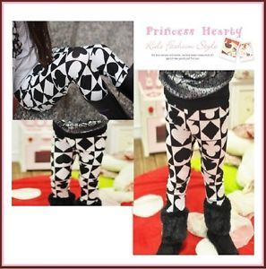 Boutique Girl Hip Trendy Style Fashion Poker Print Leggings Pants 2T 3T 4T Cute