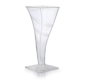 2oz Tiny Petite Squat Champagne Flute Glass 96 Ct Miniature Dessert Clear 1 PC