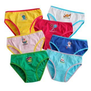 """New Vaenait Baby Toddler Kid's Girl Underwear Brief Pantie 7 Pack""""7 Days Brief """""""