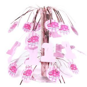 1st First Birthday Pink Ladybug 1 Cascade Centerpiece Party Supplies Baby Birth