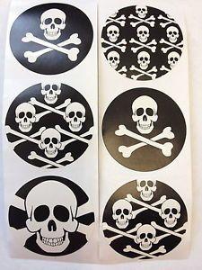 100 Pirate Skull Crossbones Stickers Party Favor Teacher Supply Halloween 3