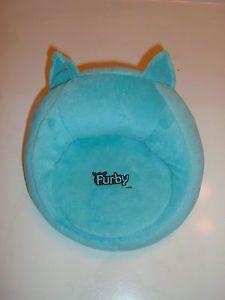 Teal Furby Plush Soft Chair Seat Lounge Bed Hasbro Aqua Light Blue Pastel