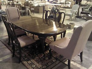 Ethan Allen Dining Room Set Queen Ann Georgian Court Solid Cherry Wood 6 Chairs
