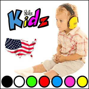 USA EDZ Kidz Kids Ear Muffs Earmuffs for Girls Boys Junior Hearing Protection
